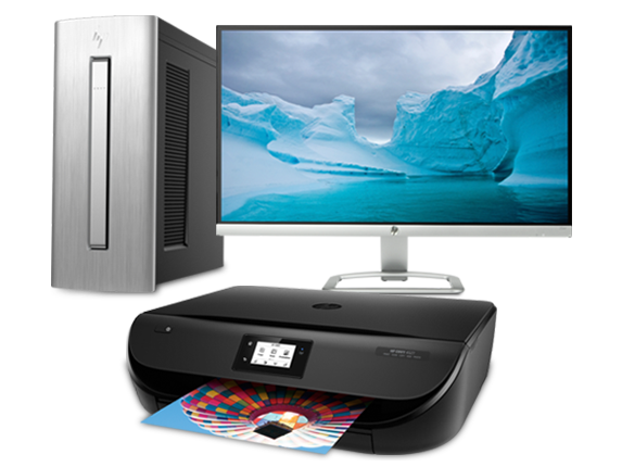 "ENVY Desktop - 750, 25"" display + ENVY All-in-One Printer Bundle - Center"