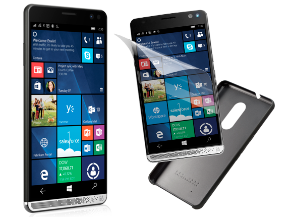 HP Elite x3, Silicone Case, Glass Screen Protector Bundle