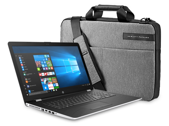 "HP 17"" Laptop + Signature Topload Case Bundle"