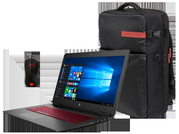 HP OMEN 17 laptop, Backpack + Gaming Mouse Bundle