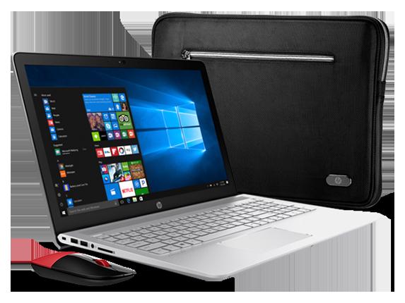"HP Pavilion 15"" Laptop, Sleeve + Wireless Mouse Bundle"