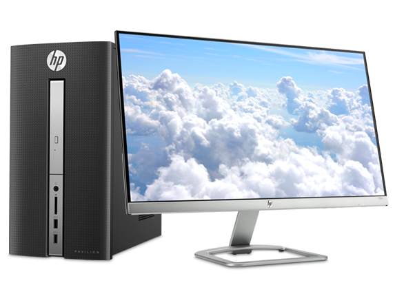 HP Pavilion Desktop - 570 + 23er Monitor - Center