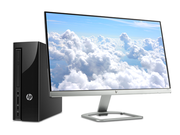 HP Slimline Desktop - 270 + 23er Monitor Bundle - Center