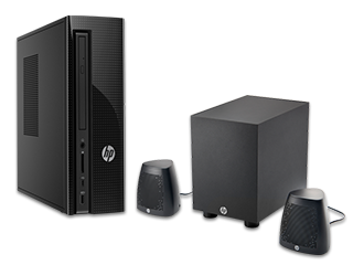 HP Slimline Desktop - 270-p025xt + Speaker System Bundle