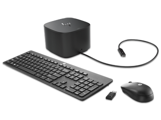 HP 120W Thunderbolt Dock G2 + Wireless Keyboard and Mouse Bundle - Img_Center_320_240