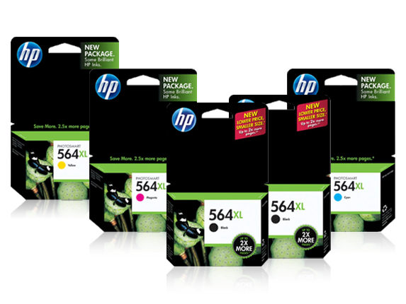 HP 564XL High Yield Black and High Yield Color Ink Cartridge Bundle