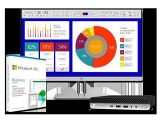 "HP EliteDesk 800 G5 Desktop Mini PC, HP EliteDisplay 23.8"" Sure View Monitor + 1-Year Microsoft 365 Business Bundle - Img_Center_320_240"