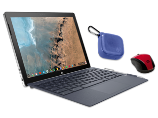 "HP Chromebook x2 12"" Detachable PC, Wireless Mouse + Bluetooth Speaker Bundle"