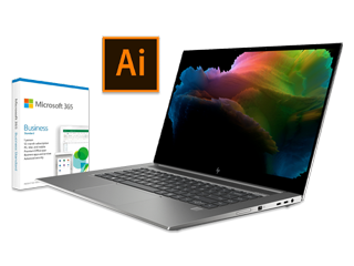 HP ZBook Create G7 Notebook PC, 1-Year Adobe Illustrator Creative Cloud + 1-Year Microsoft 365 Business Bundle - Img_Center_320_240