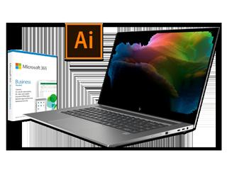 HP ZBook Create G7 Notebook PC, 1-Year Adobe Illustrator Creative Cloud + 1-Year Microsoft 365 Business Bundle - Img_Center_320_240