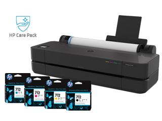 HP DesignJet T250 + Ink + Care Pack Bundle - Img_Center_320_240