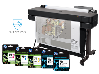 """HP DesignJet T630 Large Format Wireless Plotter Printer - 36"""" (5HB11A), extra ink cartridges + 15% off 3 Yr Extended Warranty - Img_Center_320_240"""