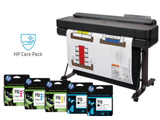 """HP DesignJet T650 Large Format Wireless Plotter Printer - 36"""" (5HB10A), extra ink cartridges + 15% off 3 Yr Extended Warranty - Img_Center_320_240"""