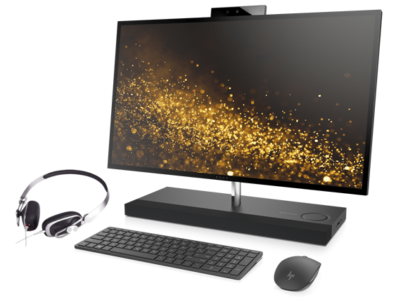 HP ENVY All-in-One - 27se + Moshi Avanti Headphone Bundle - Center