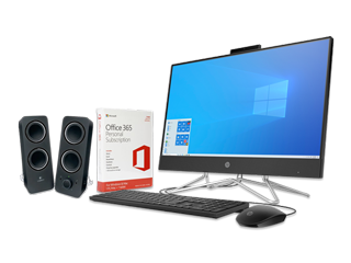 "HP 24"" All-in-One PC, Microsoft Office 365 Personal (download) + Speaker System Bundle - Img_Center_320_240"