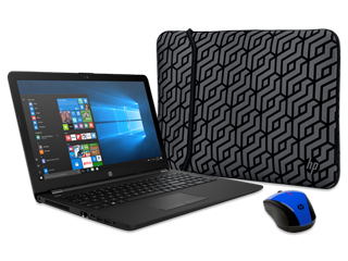 "HP 15"" Notebook, Wireless Mouse + Reversible Neoprene Sleeve Bundle"