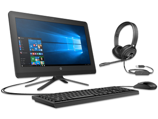"HP 20"" All-in-One PC + USB Headset Bundle"