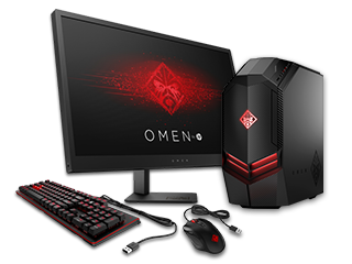 "OMEN by HP - 880se Desktop PC, 25"" Display, Keyboard + Mouse Bundle"