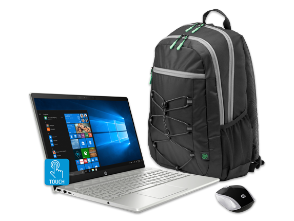 "HP Pavilion 15"" Laptop, Backpack + Wireless Mouse Bundle - Center"