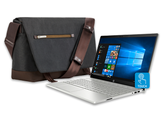 "HP Pavilion 15"" Laptop + Moshi Aerio Messenger Bag Bundle"