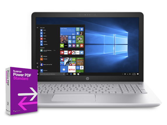 HP Pavilion - 15z Touch Laptop + Power PDF Bundle - Center