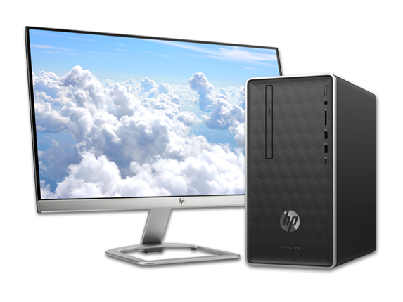 "HP Pavilion Desktop - 590t + 23"" Display Bundle - Center"