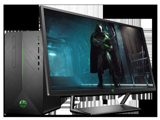 """HP Pavilion Gaming Desktop 690 + Pavilion Gaming 32"""" HDR Display Bundle"""