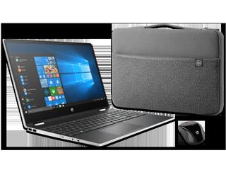 """HP Pavilion x360 15"""" Detachable PC, Carry Sleeve + Wireless Mouse Bundle"""