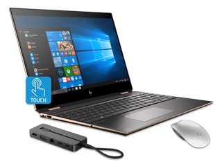 "HP Spectre x360 15"" PC, Bluetooth Mouse + USB-C Dock Bundle"