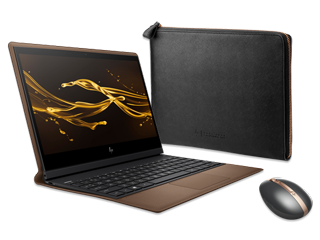 "HP Spectre Folio - 13"" PC, Spectre Rechargeable Mouse + Spectre Leather Sleeve Bundle"