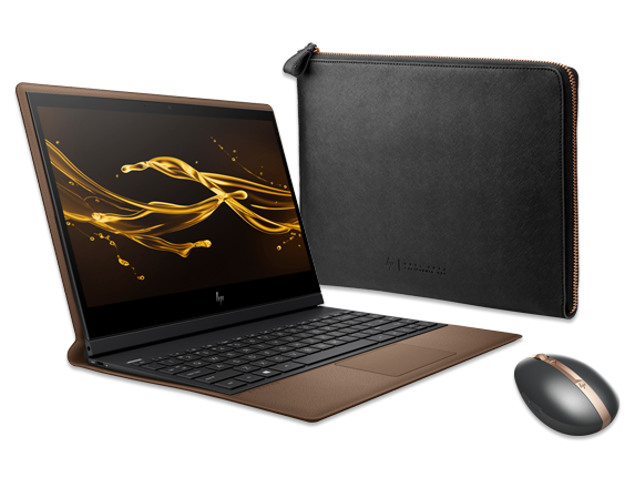 "HP Spectre Folio - 13"" PC, Spectre Rechargeable Mouse + Spectre Leather Sleeve Bundle - Center"