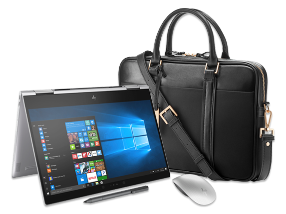 "HP Spectre x360 - 13"" Convertible Laptop, Spectre Topload Case + Bluetooth® Mouse Bundle - Center"