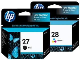HP 27 & 28 Ink Cartridges