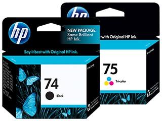 HP 74 & 75 Ink Cartridges