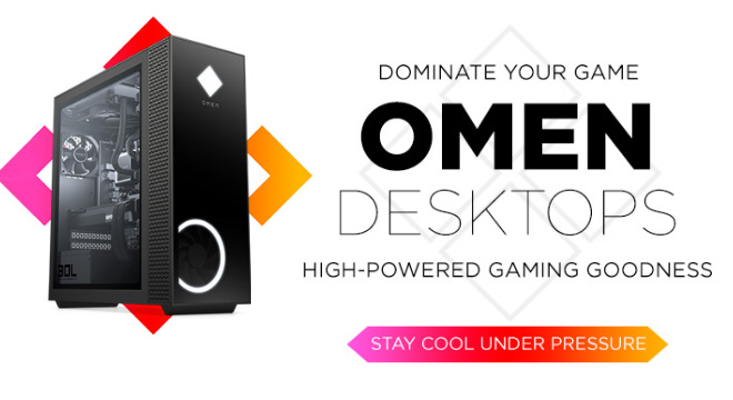 Dominate your game with omen desktops. High-powered gaming goodness. Stay cool under pressure.