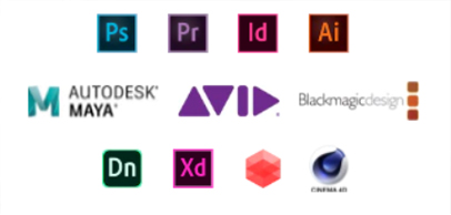 Certified and designed for Maya Autodesk, Black Magic Design, Adobe Photoshop, Premier, InDesign, Illustrator, XD and Dimension.