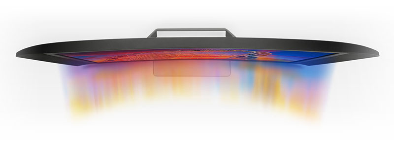 Immersive curved display