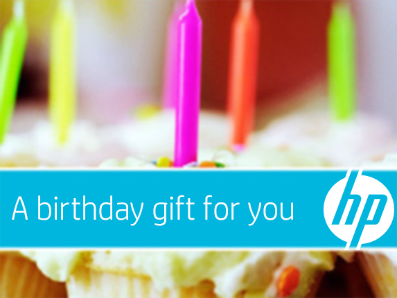 HP Birthday Cupcakes e-Gift Card
