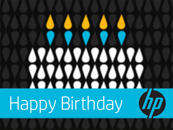 HP Birthday Cake e-Gift Card